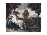 A Virgin with a Unicorn, 1604-05 Giclee Print by Domenico Zampieri