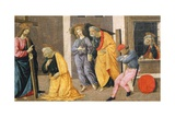The Stories of St Peter, Detail from Predella of Sacred Conversation Giclee Print by Domenico Ghirlandaio