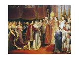 Religious Marriage of Napoleon I and Marie-Louise in Salon Carre at Louvre, on 2 April, 1810 Giclee Print by Georges Rouget
