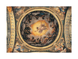 The Vision of St John the Evangelist, the Evangelists and the Doctors of the Church, 1520 - 1524 Giclee Print by Correggio