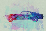Ford Mustang Watercolor 1 Signes en plastique rigide par  NaxArt