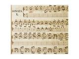 Music Sheet of Sonata No 10 Lámina giclée por Domenico Scarlatti