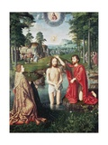 Baptism of Christ, Central Panel of Jean Des Trompes Triptych Giclee Print by Gerard David
