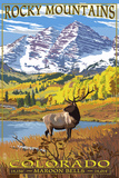 Maroon Bells - Rocky Mountain National Park Wall Sign