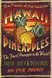 Hawaiian Pineapple Plastic Sign by  Lantern Press