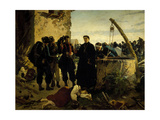 Anna Cuminello Found Dead Days after Battle of San Martino in 1859 Giclee Print by Carlo Ademollo