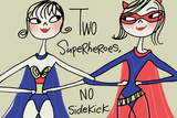 Superhero Friends Plastic Sign