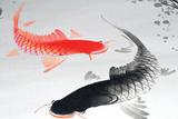 Asian Ink Design Elements Signes en plastique rigide par  bimka1