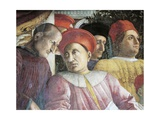Ludovico Gonzaga and Counselor Marsilio Andreasi, Detail from Court Wall, 1465-1474 Giclee Print by Andrea Mantegna