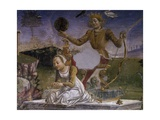 Apollo and Aurora, Detail from Triumph of Apollo, Scene from Month of May, Ca 1470 Giclee Print by Francesco del Cossa