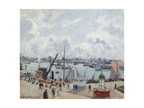 The Outer Harbour of Le Havre, Quai De Southampton, the Honfleur Boat Leaving the Harbour, 1903 Stampa giclée di Camille Pissarro