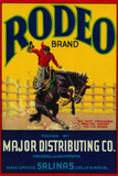 Rodeo Vegetable Label - Salinas, CA Plastic Sign by  Lantern Press