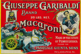 Giuseppe Garibaldi Macaroni Label - Philadelphia, PA Wall Sign by  Lantern Press