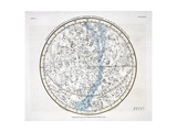 The Northern Hemisphere, from 'A Celestial Atlas' 1822 Giclee Print by Alexander Jamieson