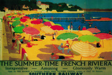Summertime French Riviera Vintage Poster - Europe Plastic Sign by  Lantern Press