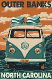 VW Van - Outer Banks, North Carolina Wall Sign