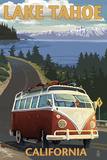 Lake Tahoe, California - VW Coastal Drive Plastic Sign by  Lantern Press