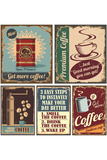 Vintage Coffee Posters And Metal Signs Plastskylt av  Lukeruk