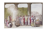 The Family of Priam after the Departure of Hector Giclee Print by Angelo Monticelli