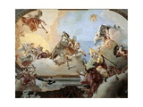 Allegory Created for the Marriage of Lodovico Rezzonico and the Noble Venetian Faustina Savorgnan Giclee Print by Giambattista Tiepolo