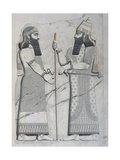 Sculptures on Facade of Imperial Palace of Nineveh, 1849 Giclee Print by Eugene Flandin