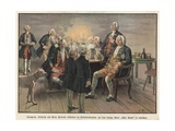 Crown Prince Frederick and Prince Henry of Prussia Wishing their Father, the King, Goodnight Giclee Print by Carl Rochling