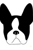 Boston Terrier Plastic Sign