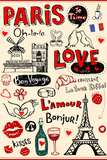 Paris - A City Of Love And Romanticism Plastic Sign by Anastasiya Zalevska
