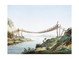 Rope Bridge over the Chambo River at Penipe, Ecuador Giclee Print by Alexander Von Humboldt