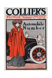 Cover Illustration for the Automobile Number, Collier's Magazine, January 17th 1903 Giclee Print by Edward Penfield