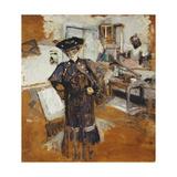 Lady in a Veil, with Hands on Hips; Dame a La Voilette, Les Mains Sur Les Hanches, C.1902-03 Giclée-Druck von Edouard Vuillard