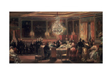 Reception in Honor of Queen Victoria at Chateau D'Eu, 3 September, 1843 Giclee Print by Eugene Louis Lami