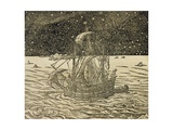 Sailors Following Northern Route, Engraving from Universal Cosmology Giclee Print by Andre Thevet