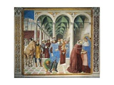 St. Augustine Arriving in Milan, Detail from Stories of St. Augustine, 1465 Giclee Print by Benozzo Gozzoli
