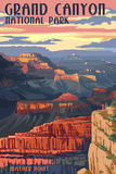 Grand Canyon National Park - Mather Point Wall Sign by  Lantern Press