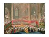 The Coronation of George IV in Westminster Abbey Giclee Print by Frederick Christian Lewis