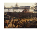 Preparing Canons, Detail from Artillery Park in Port-Neuf in Toulon, 1755 Giclee Print by Claude-Joseph Vernet
