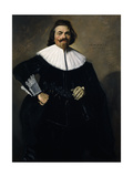 Portrait of Tieleman Roosterman, Three-Quarter-Length, in a Black Doublet, 1634 Giclee Print by Frans Hals