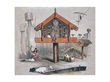 Maori Food Storage Hut, Illustration from New Zealanders Illustrated Giclee Print by George French Angas