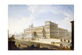 The Piazza Del Quirinale, with the Castel Sant'Angelo and Saint Peter's Beyond Giclée-tryk af Antonio Joli