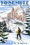 Glacier Point and Half Dome - Yosemite National Park, California Plastic Sign by  Lantern Press