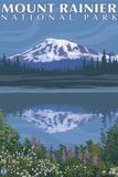 Mount Rainier, Reflection Lake Wall Sign