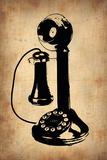 Vintage Phone 2 Plastic Sign by  NaxArt