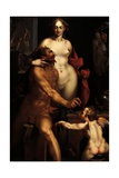 Venus in the Forge of Vulcan, Jupiter and Antiope Giclee Print by Bartholomaeus Spranger