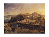 French Zouaves under Command of Colonel Lamoriciere Entering City of Constantine Giclee Print by Eugene Flandin