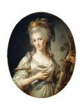 Portrait of a Lady Said to Be the Princess De Lamballe Giclée-Druck von Antoine Vestier