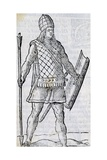 Inca Soldier, Engraving from of Ancient and Modern Dress of Diverse Parts of World, 1589 Giclee Print by Cesare Vecellio