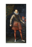 Portrait of the Archduke Albert, Standing Full-Length Holding a Baton, 1593 Giclee Print by Alonso Sanchez Coello
