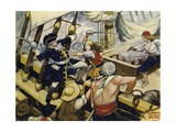 When the Pirate Ship Was Attacked Giclee Print by Alberto Salinas