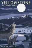 Lamar Valley Scene, Yellowstone National Park Pancarte matière plastique par  Lantern Press